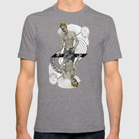 King Of Brains Mens Fitted Tee Tri-Grey SMALL