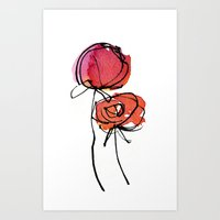 Red Ranunculus Art Print