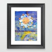 Happy Lotus Framed Art Print