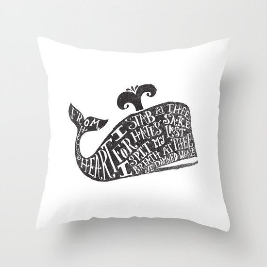 ...YE DAMNED WHALE. Throw Pillow