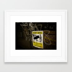 They're watching us Framed Art Print