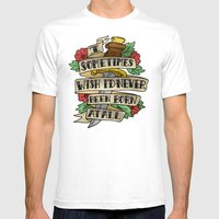 QUEEN TATTOO Mens Fitted Tee White SMALL