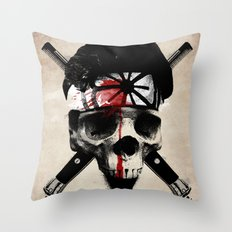 Death to LaRusso Throw Pillow