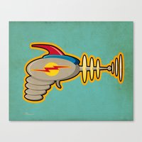 Retro Ray Gun Canvas Print