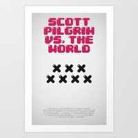 Scott Pilgrim Vs. The Wo… Art Print