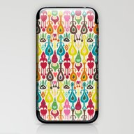 Ivory Love Ikat iPhone & iPod Skin