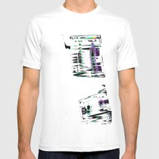 Cassette #3 Mens Fitted Tee SMALL White