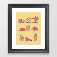 Sloth Yoga Framed Art Print