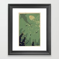 Meanwhile, Deep Below...… Framed Art Print