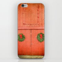 Christmas Barn iPhone & iPod Skin