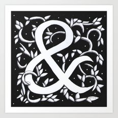 Ampersand - William Morris Inspired Art Print