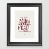 Take Heart Framed Art Print