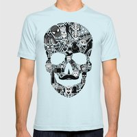 My Skull Mens Fitted Tee Light Blue SMALL