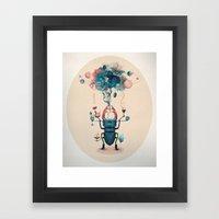 funny beetle Framed Art Print