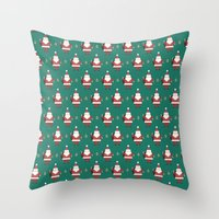 Day 10/25 Advent - Folding Santa Throw Pillow