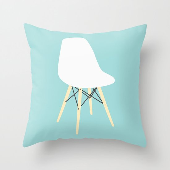 #98 Eames Chair Throw Pillow