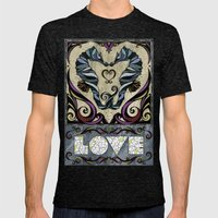 Love Mens Fitted Tee Tri-Black SMALL