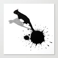 Inkcat2 Canvas Print