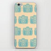 I Still Shoot Film Holga Logo - Reversed Turquoise/Tan iPhone & iPod Skin