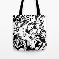 Doktor Steampug- Black and White Tote Bag