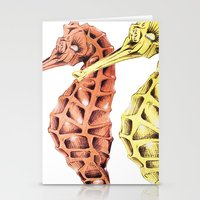 SeaHorses Stationery Cards