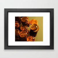 A Penny For Your Thoughts. Framed Art Print