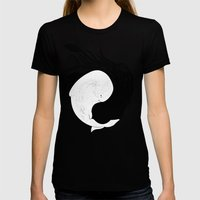Sea Frenemies Womens Fitted Tee Black SMALL