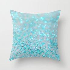 Sweetly Aqua Throw Pillow