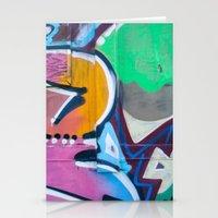 Train Graffiti  Stationery Cards