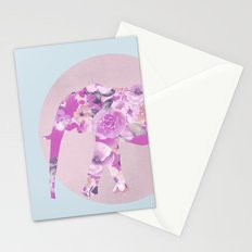 Floral Elephant Stationery Cards