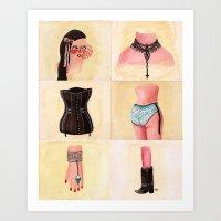 Body Parts Art Print