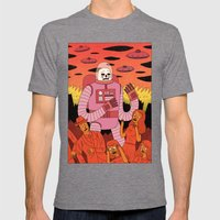 Alien Invader  Mens Fitted Tee Tri-Grey SMALL