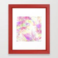 Happy Neons Framed Art Print