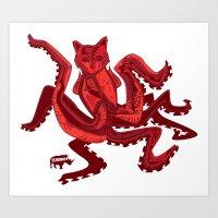 the Squidcat Art Print