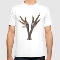 Chicken Feet Mens Fitted Tee White SMALL