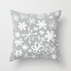 Snowflake Concrete Throw Pillow