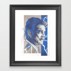 Tesla Framed Art Print