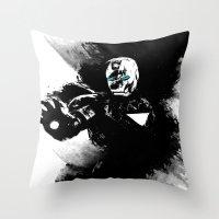 Iron Man: Shadow Edition  Throw Pillow