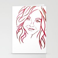 Red Portrait Stationery Cards