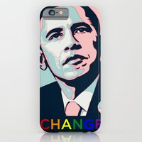 obama iPhone & iPod Cases featuring Obama LGBT by HUMANSFOROBAMA