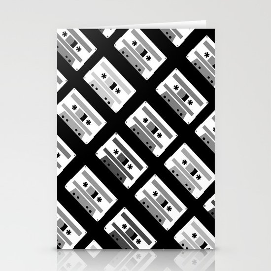 Black and White Tapes 45 Stationery Card