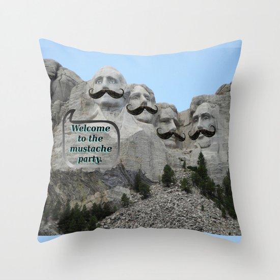 Mount Mustache Throw Pillow