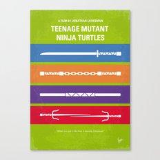 No346 My Teenage Mutant Ninja Turtles minimal movie poster Canvas Print