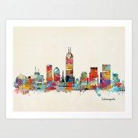 Indianapolis Indiana Sky… Art Print