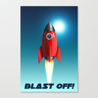 Blast Off! Canvas Print
