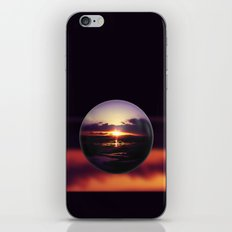 Float on the clouds like a drop of dew and bask in the light of a sunrise view iPhone & iPod Skin