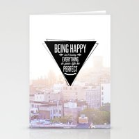 Being Happy Stationery Cards