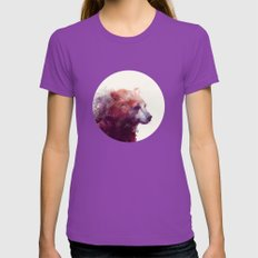 Bear // Calm Womens Fitted Tee Ultraviolet SMALL