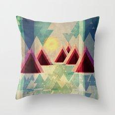 Mountain Lake Throw Pillow