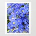 Happy and Blue Art Print